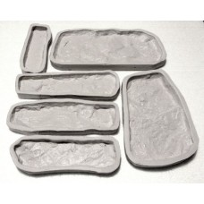 Sada silikonových raznic imitace kamene typ 1