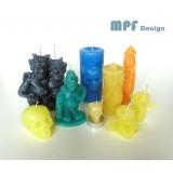 Silikonové formy pro výrobu svíček a různých figurek